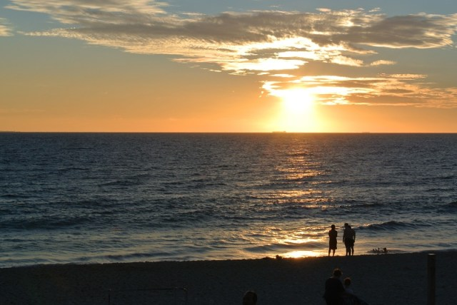 The sunset over Cottesloe beach front