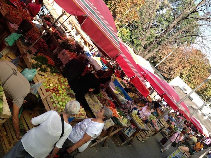 Farm market - Zagreb, Croatia