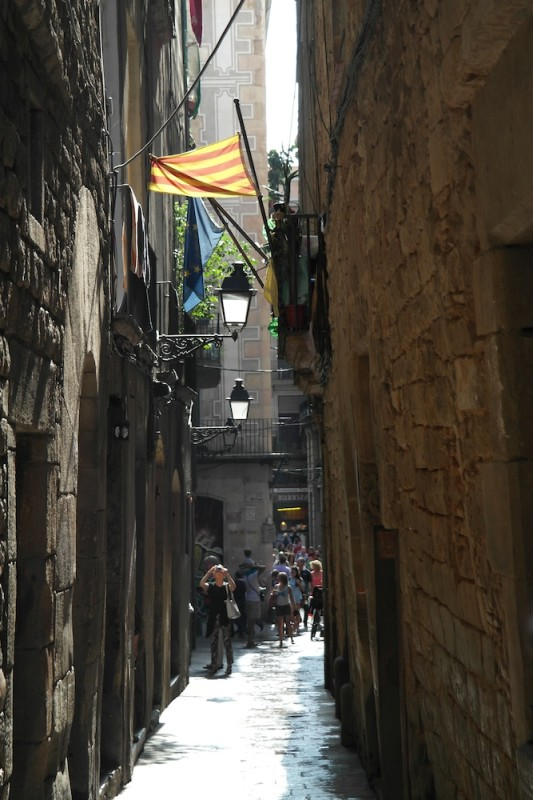 Calle Major, Barcelona - Catalonia, Spain