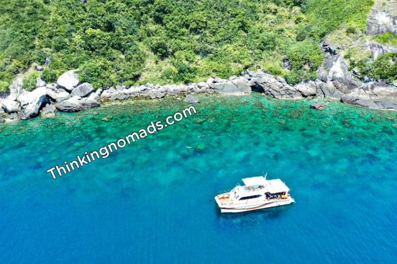 Cham Islands with Children drone