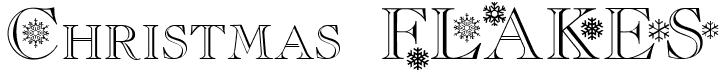 christmas flakes free font