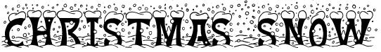 christmas snow free font