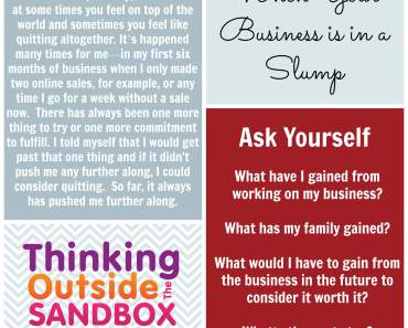 When Your Business Is In A Slump Ask Yourself