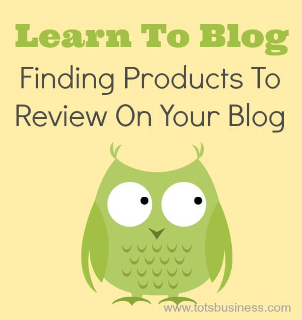 Finding Products To Review On Your Blog