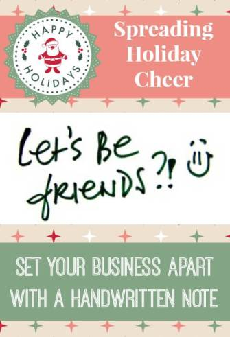 Spreading Holiday Cheer: Set Your Business Apart With a Handwritten Note