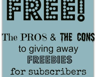 Should you give away freebies on your blog?