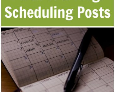 Birth of a Blog: Scheduling Posts