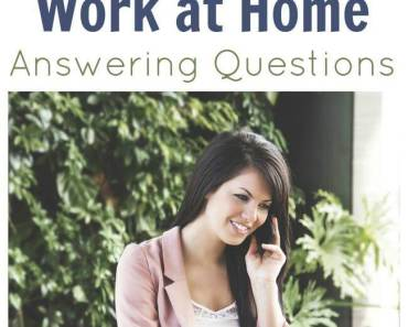 Companies Hiring People to Work at Home- Answering Questions