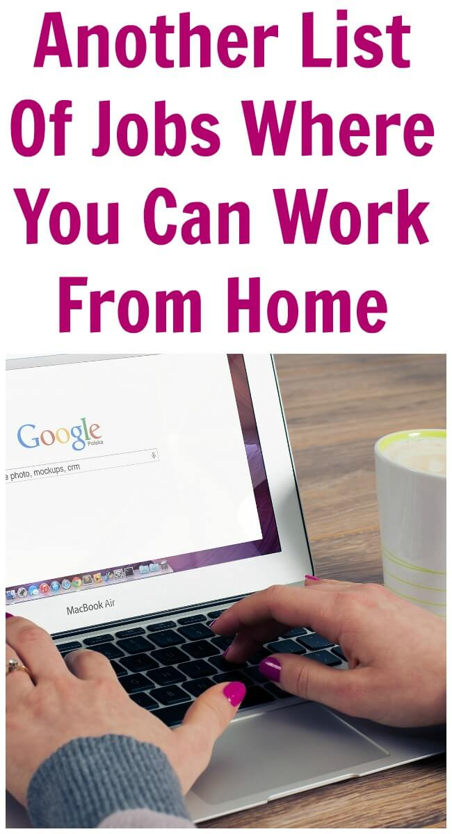 work from home keywords list