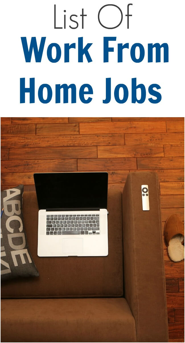 List of Work From Home Jobs