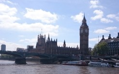 The houses of parliament and Elizabethan Tower, or Big Ben.