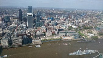 Part of the London Skyline with the Gherkin, the walkie-talkie and other well known buildings.