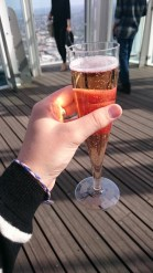Champagne in the shard.