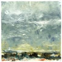 """Sky Alive Over Rio Grande & Ute Mountain"" Barrie G. Andrews, monotype"
