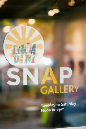 snap gallery sign edmonton