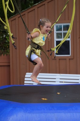 Clara on the bungy