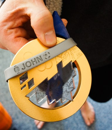 JBT hangs out with Olympic Gold.