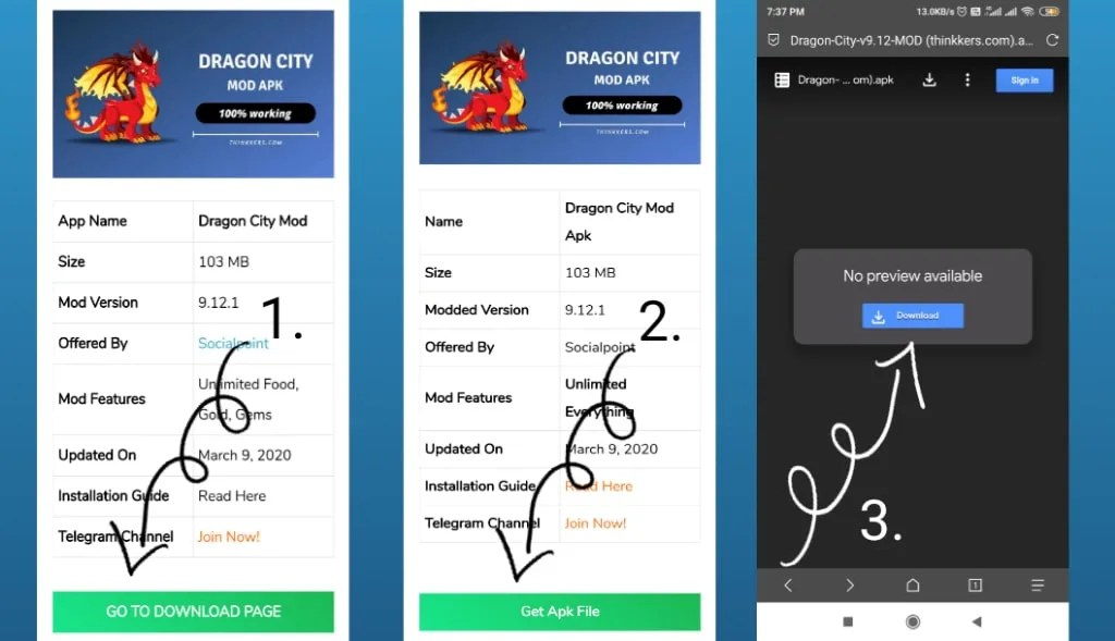 Download dragon city mod
