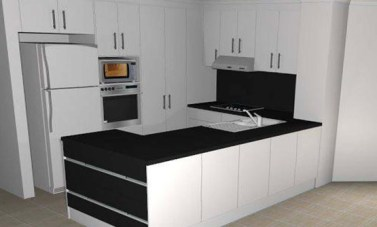 Our concept 3D rendering of a kitchen