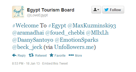 Tweets of #Egypt Tourism Board