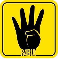 The original Rabaa solidarity poster that started on Facebook