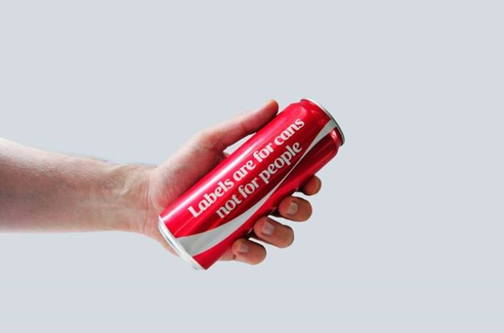 Coca Cola Labels are for cans, not for people