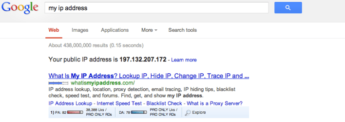 Get your IP address