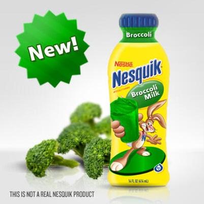 Nesquik debuts broccoli flavored milk