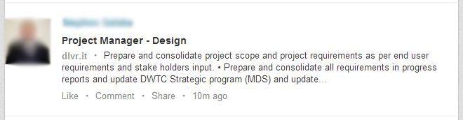 Shared job links outside LinkedIn