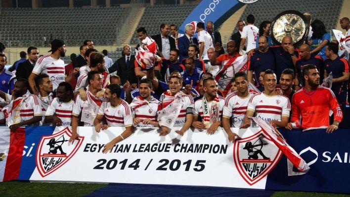 El Zamalik Celebrate winning Egyptian league and Eftpt Cup titles sponsored by SAIB Bank