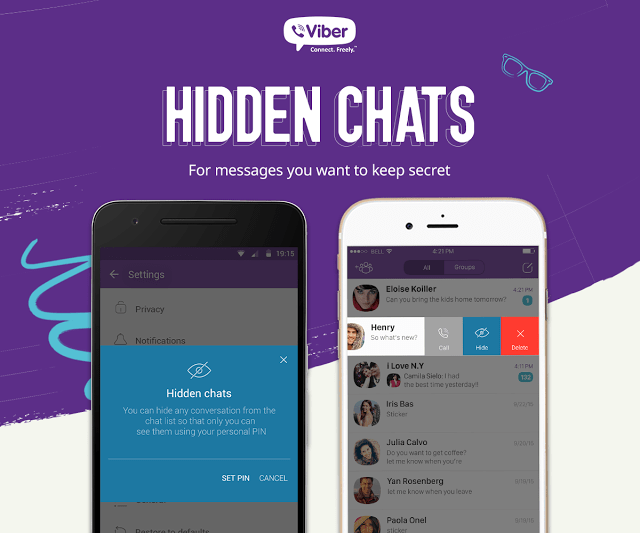 Viber hidden chat