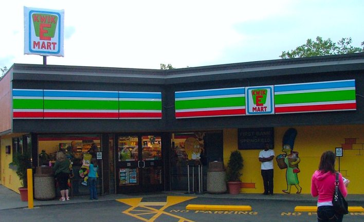 711 Kwik E Mart Simpions OOH Guerilla marketing