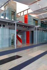 The northern edge accommodating various functions such as the service areas, circulation core, restrooms etc.