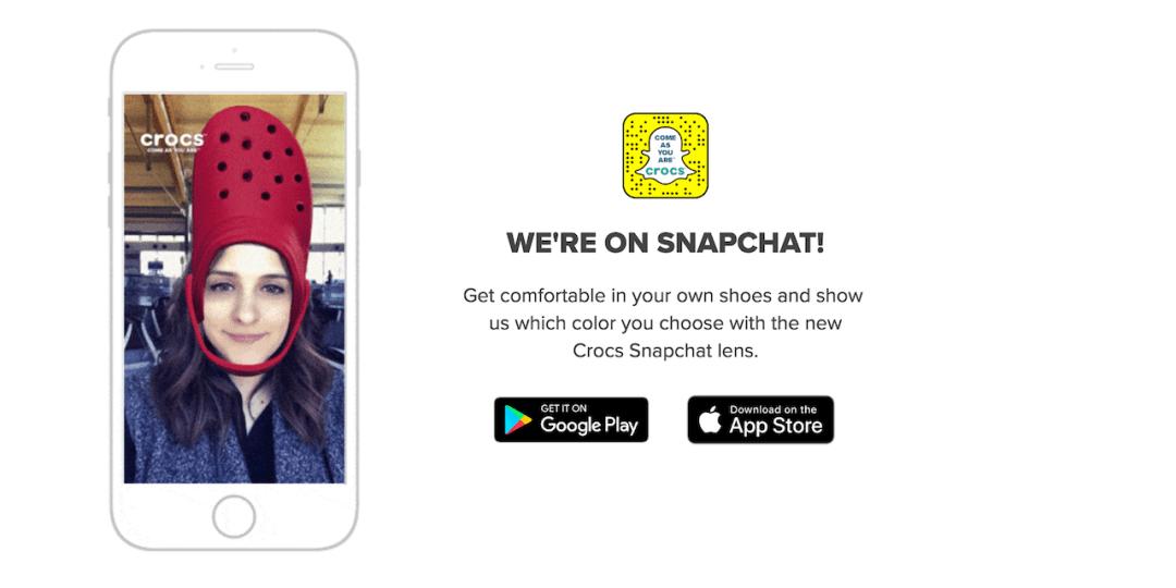 Crocs Snapchat Filter