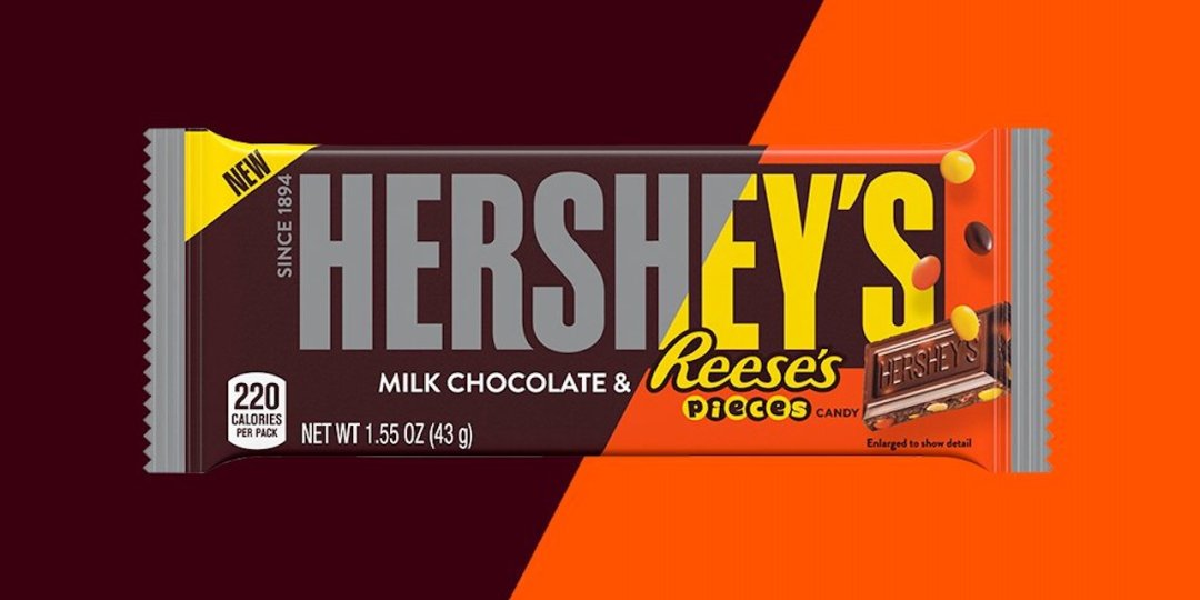 Hershey Bar with Reeses Pieces Mashup