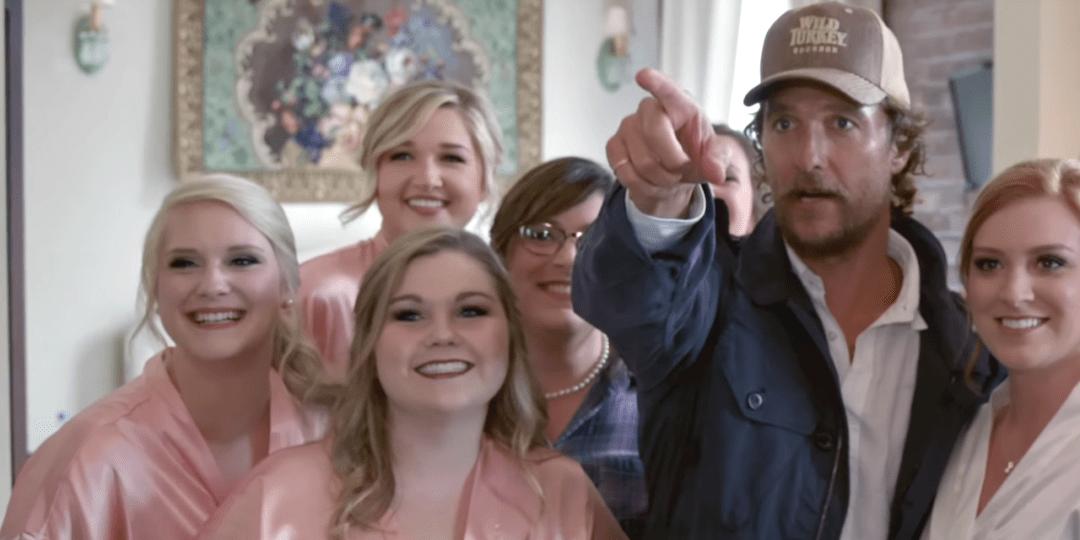 McConaughey Meets Bride-to-Be in Wild Turkey Video