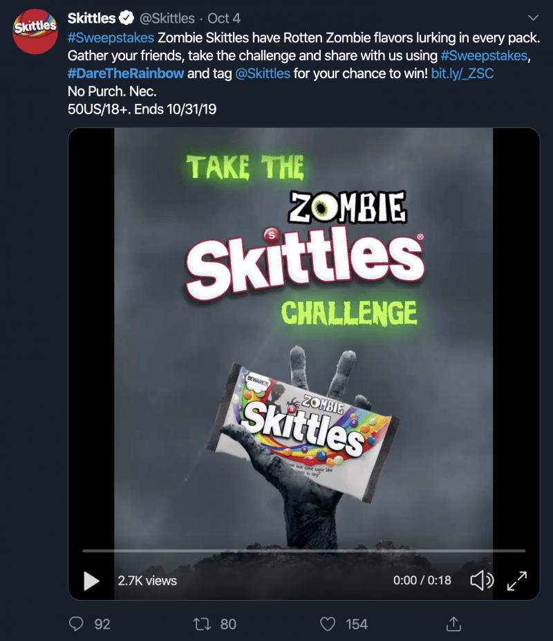 Skittles #DaretheRainbow
