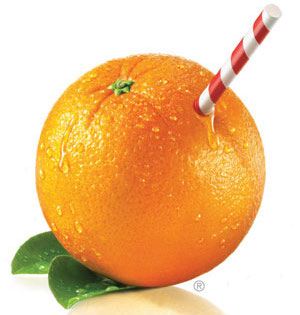 Tropicana Orange with Straw