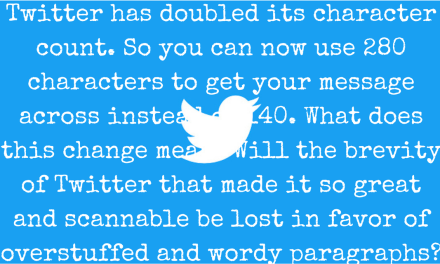 Twitter Goes Long with Character Count