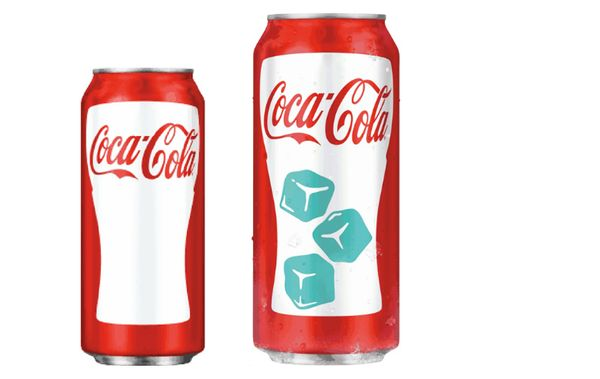 Coke cold-activated can