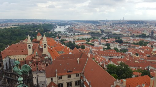 Views over Prague from the tower of St. Vitus' Cathedral