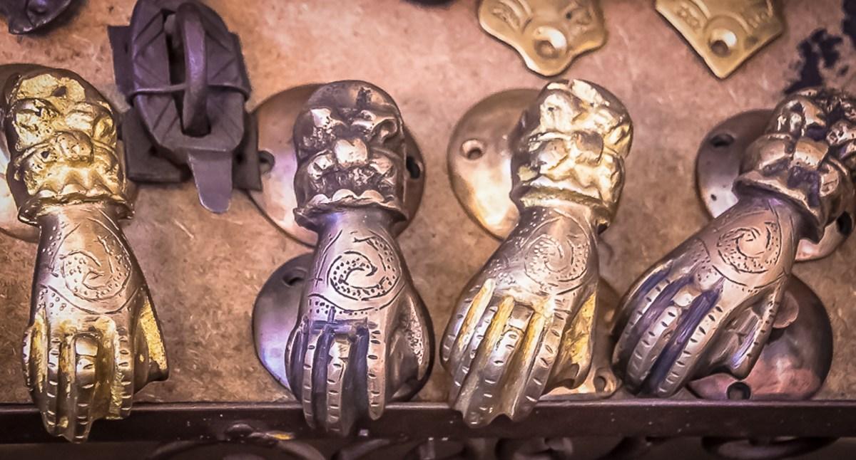 Hands around the world.