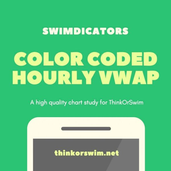 color coded hourly vwap and standard deviation bands for thinkorswim