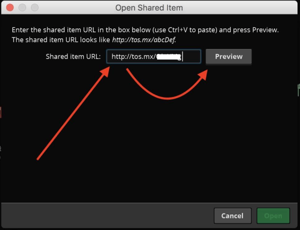 install thinkorswim indicators by copying sharing links step 2