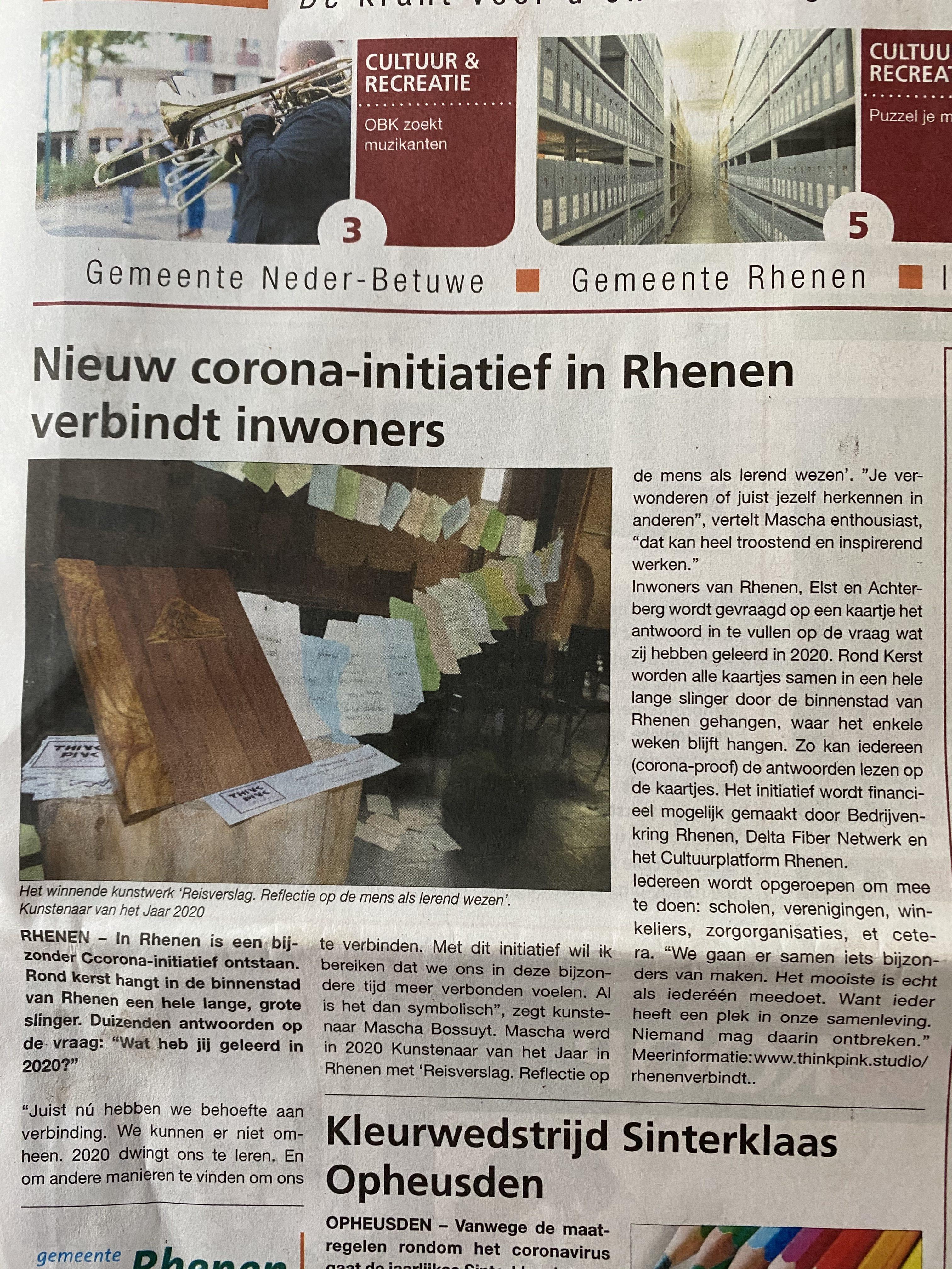 Artikel in GemeenteNieuws