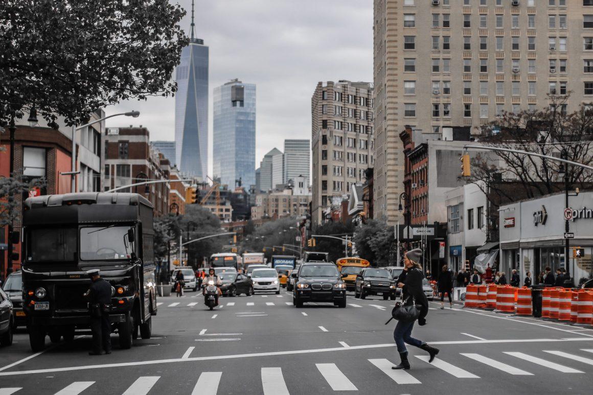 A road in Manhattan