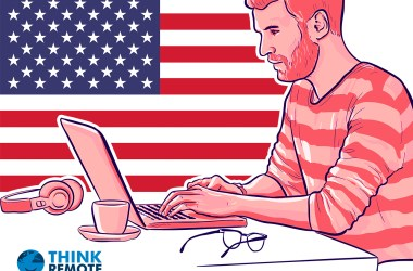 A freelancer reads about the PRO Act on his laptop in USA