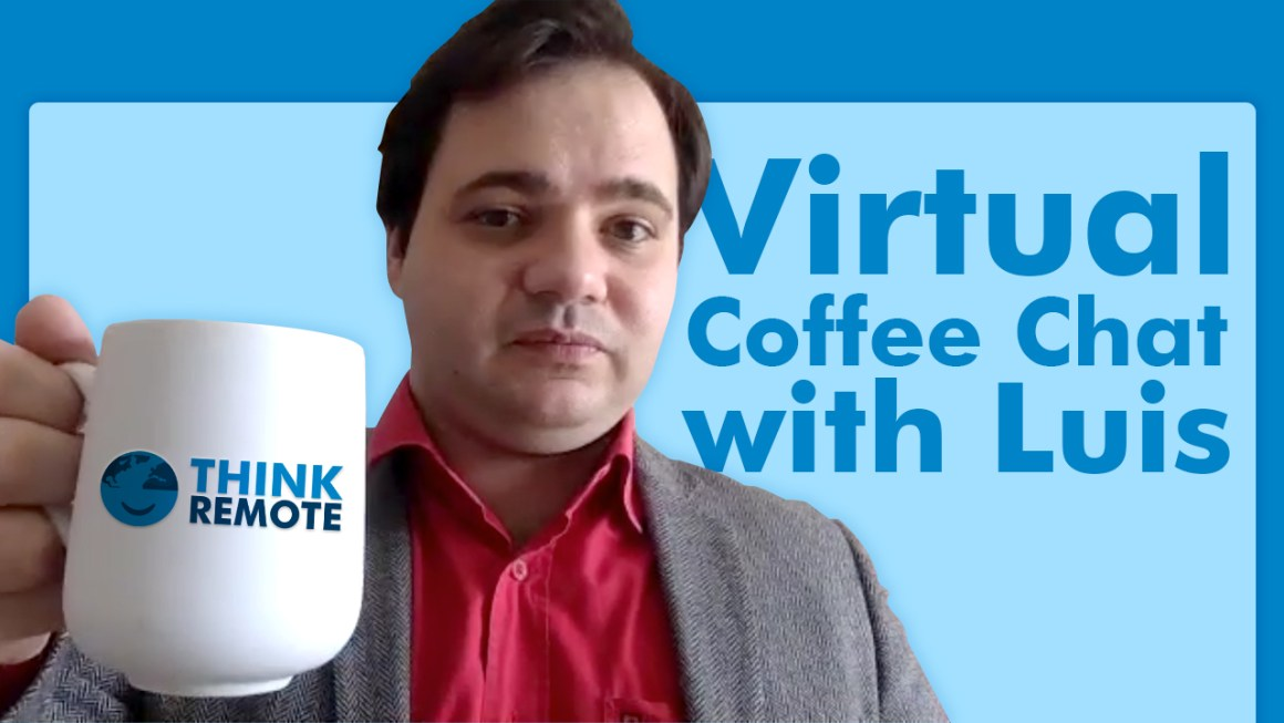 Luis talks about the new role of director of marketing while having coffee