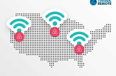 Airbnb with good wifi locations on map