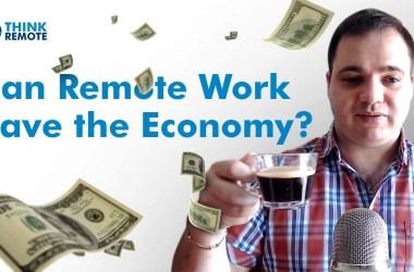 remote work save economy